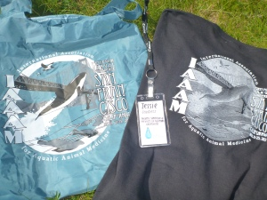 My conference tote, ID and fun run shirt