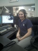 Working at KSCO 1080 not too long ago. Courtesy of Dr. J Sanders