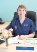 Our hospital manager, Sara Enos